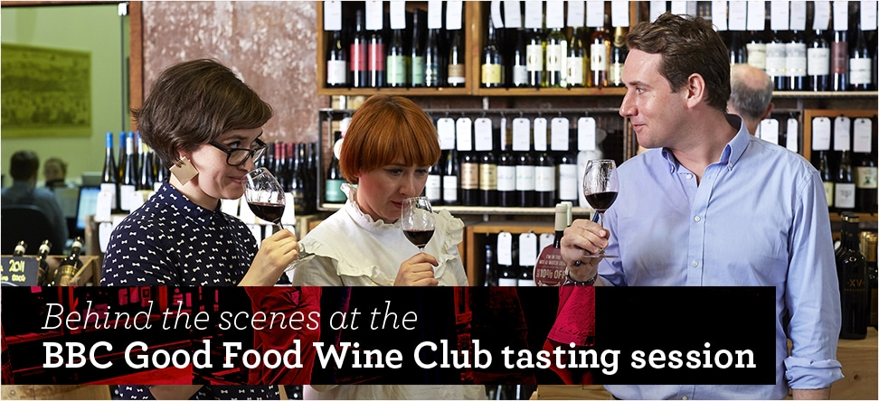 Behind the scenes at the BBC Good Food Wine Club tasting session