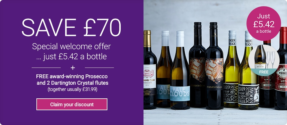 SAVE over £70 on your first case + FREE award-winning Prosecco and 2 Dartington Crystal flutes (together usually £31.99) Claim your discount