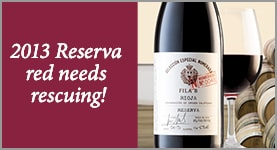 2013 Reserva red needs rescuing!