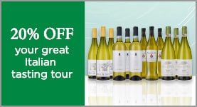 20% OFF your great Italian tasting tour