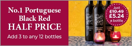 No.1 Portuguese Black Red HALF PRICE - Add 3 to any 12 bottles (Just £5.24 a bottle)