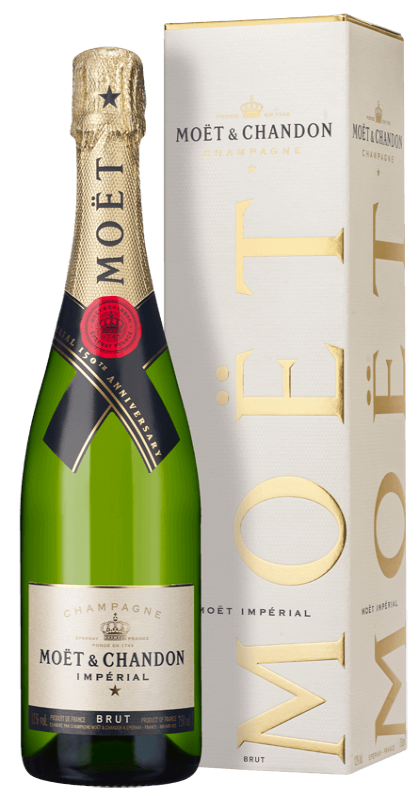 Champagne Moët & Chandon Brut Impérial (in gift box) NV ...