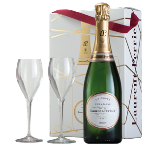 Champagne Laurent-Perrier Brut La Cuvée (in gift box with 2 glasses)