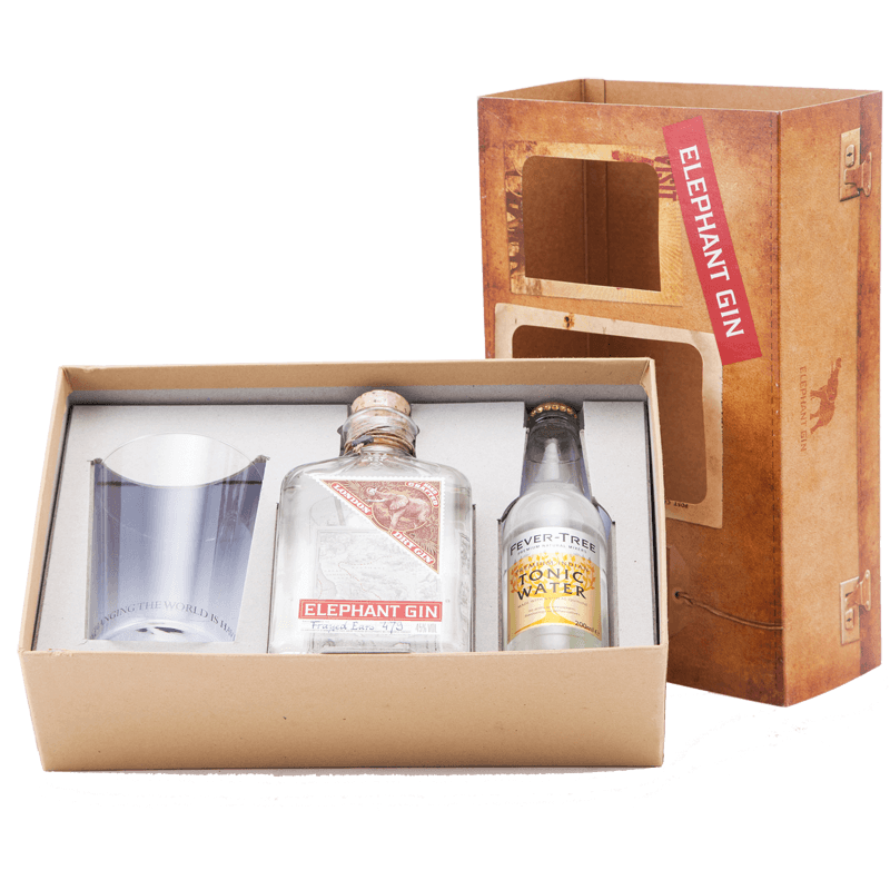 Elephant London Dry Gin Gift Set With Tonic And Glass