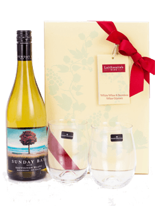 New Zealand Sauvignon Blanc and Stemless Glasses Gift Set