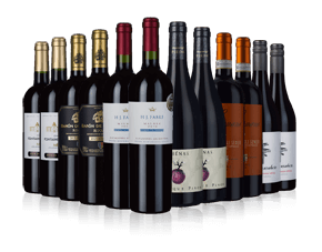 Deluxe red wine selection