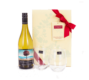 NZ Sauvignon and Dartington Glasses Gift