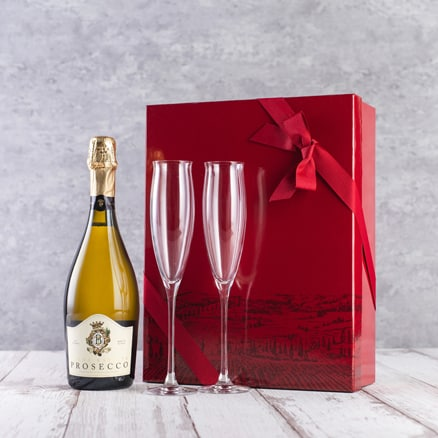 Prosecco & Dartington Crystal flutes Gift Set