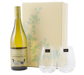 Easter gifts new zealand sauvignon blanc and dartington crystal glasses gift set negle Images