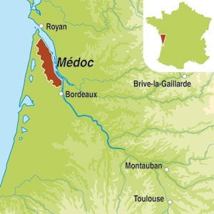 Map showing Medoc AOC