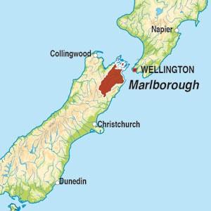 Map showing Marlborough
