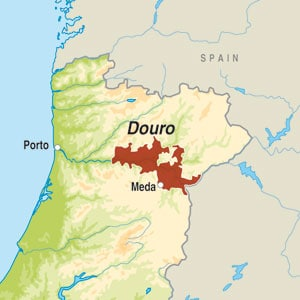Map showing Douro DOC